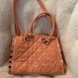 Peach colored purse